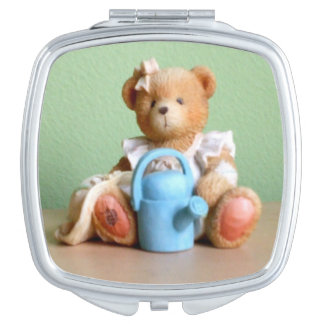 A Delightful Teddy Bear Figurine Mirror For Makeup