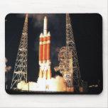 A Delta IV Heavy rocket lifts off Mouse Pad