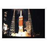 A Delta IV Heavy rocket lifts off Photo