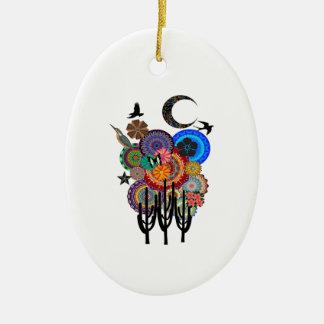 A Desert Festival Ceramic Ornament