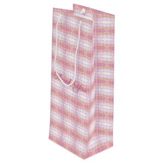 A Designer Plaid Wine Gift Bag For Any Occasion
