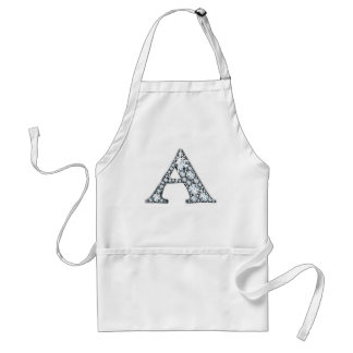 """A"" Diamond Bling Print Apron"