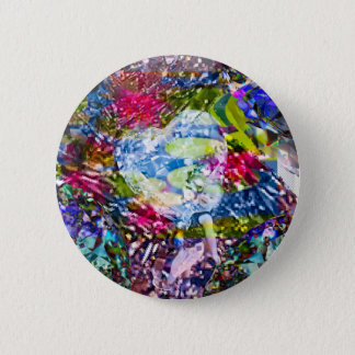 A diamond heart shines on the pond 2 inch round button