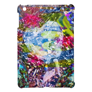 A diamond heart shines on the pond iPad mini cover