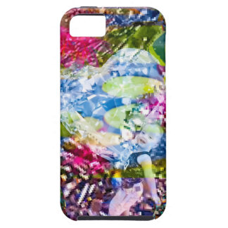 A diamond heart shines on the pond iPhone 5 case