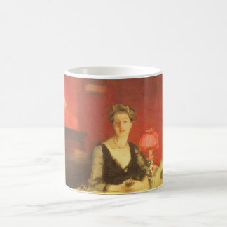 A Dinner Table at Night by Sargent, Victorian Art Classic White Coffee Mug