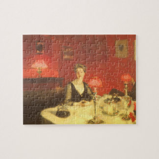 A Dinner Table at Night by Sargent, Victorian Art Jigsaw Puzzle