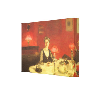 A Dinner Table at Night by Sargent, Victorian Art Stretched Canvas Prints