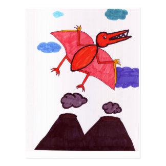 A dinosaur postcard