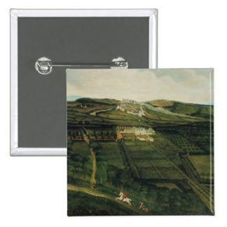 A Distant View of Corfe Castle 2 Inch Square Button
