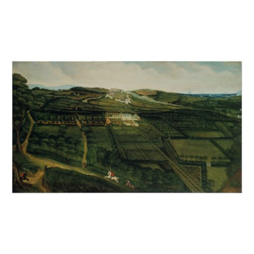 A Distant View of Corfe Castle Print