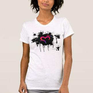 A. Ditched Oz Heart & Halo Splatter T-Shirt