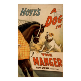 A Dog in The Manger Vintage Theater Poster