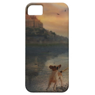 A doggy at the beach case for the iPhone 5