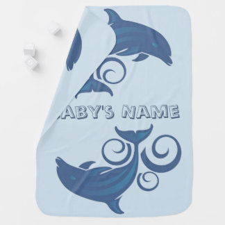 A Dolphin Baby Blanket