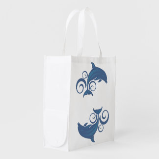 A Dolphin Reusable Grocery Bag