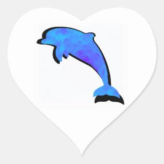 A Dolphins Tale Heart Sticker