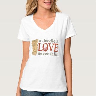 A Doodle's Love Never Fails - GoldenDoodle T-Shirt