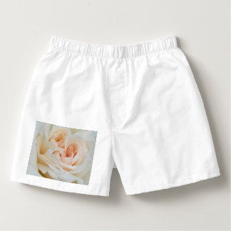 A Double Hearted Romantic White Rose Boxers