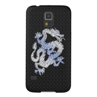 A Dragon expression on Black Snake Skin Print Cases For Galaxy S5
