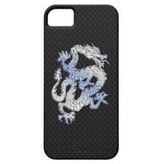 A Dragon expression on Black Snake Skin Print iPhone 5 Cases