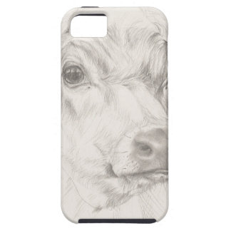A drawing of a young cow case for the iPhone 5