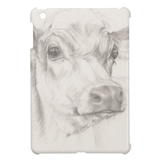 A drawing of a young cow cover for the iPad mini