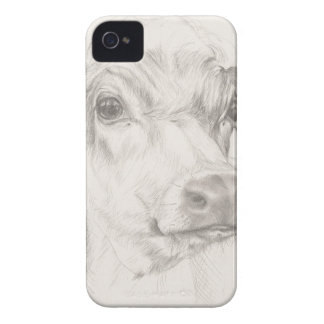 A drawing of a young cow iPhone 4 cover