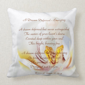 A Dream Deferred - Emerging Orchid Throw Pillow