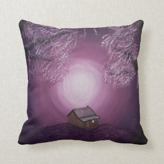 A Dream for Two / Windmill - Two image pillow. Throw Pillow