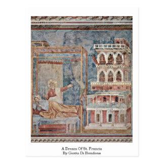 A Dream Of St. Francis By Giotto Di Bondone Postcard