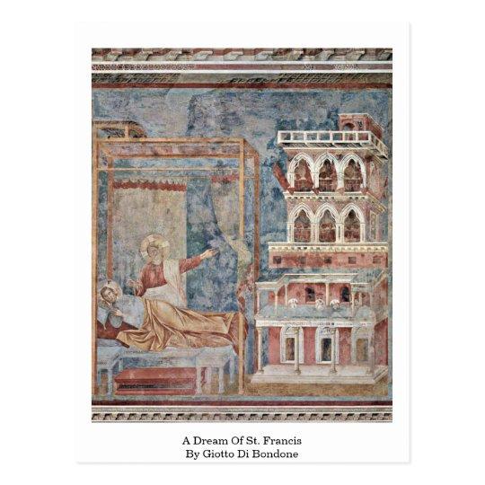 A Dream Of St. Francis By Giotto Di Bondone Postcard