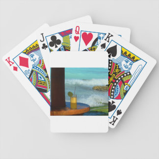 A Drink At The Beach Bicycle Playing Cards