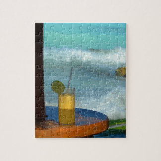 A Drink At The Beach Jigsaw Puzzle