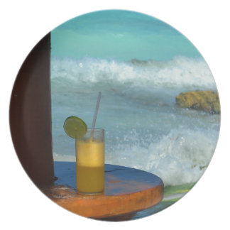 A Drink At The Beach Plate