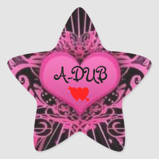 A-DUB LUV STAR STICKER