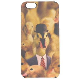 A Duck In A Bowler Hat And Suit And Tie Clear iPhone 6 Plus Case
