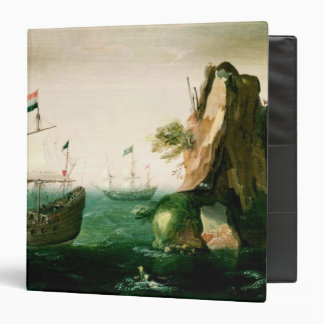A Dutch Merchant Ship off a Rocky Coast Binder