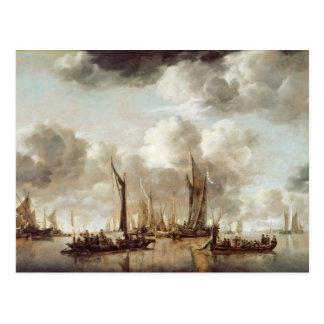 A Dutch Yacht Firing a Salute Postcard