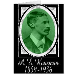 A.E. Housman Card