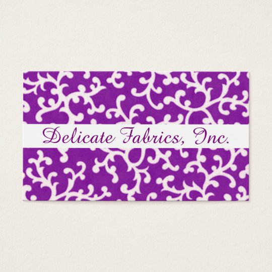 A Fabric of Swirls 2 Business Card