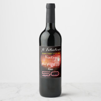 A Fabulous Any Name Vintage with Fab & Any Age - Wine Label