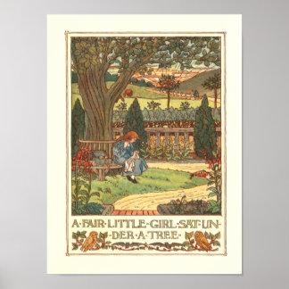 """""""A Fair Little Girl"""" Poster"""