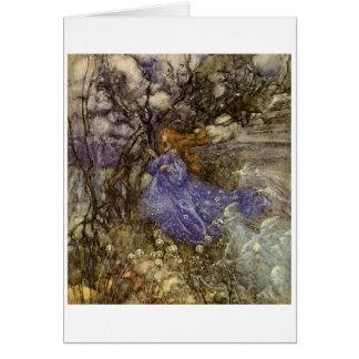 A Fairy in Blue (Blank Inside) Card