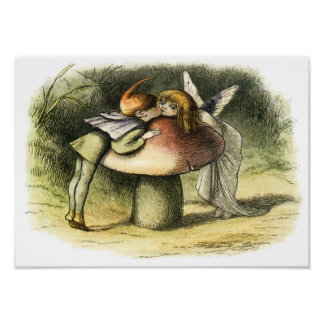 A Fairy Kiss by Richard Doyle Poster