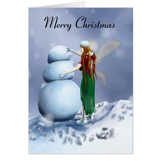 A Fairy Snowy Winter Card