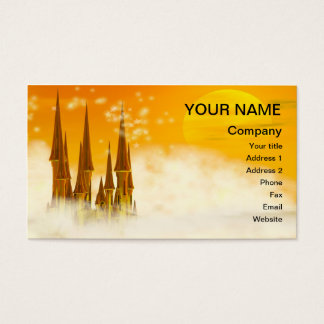 A fairy tale castle in the clouds business card