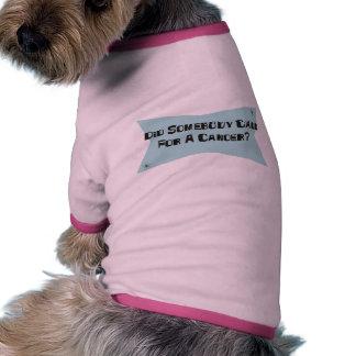 A fait quelqu un appel pour un Canoer Vêtements Pour Animaux Domestiques