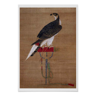 A Falcon - 16th Century Korean Scroll Poster