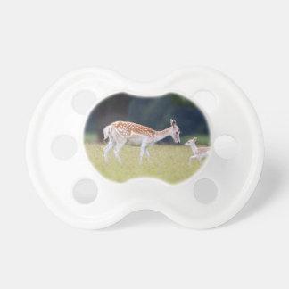 A Fallow Deer (Doe) with Fawn Pacifier